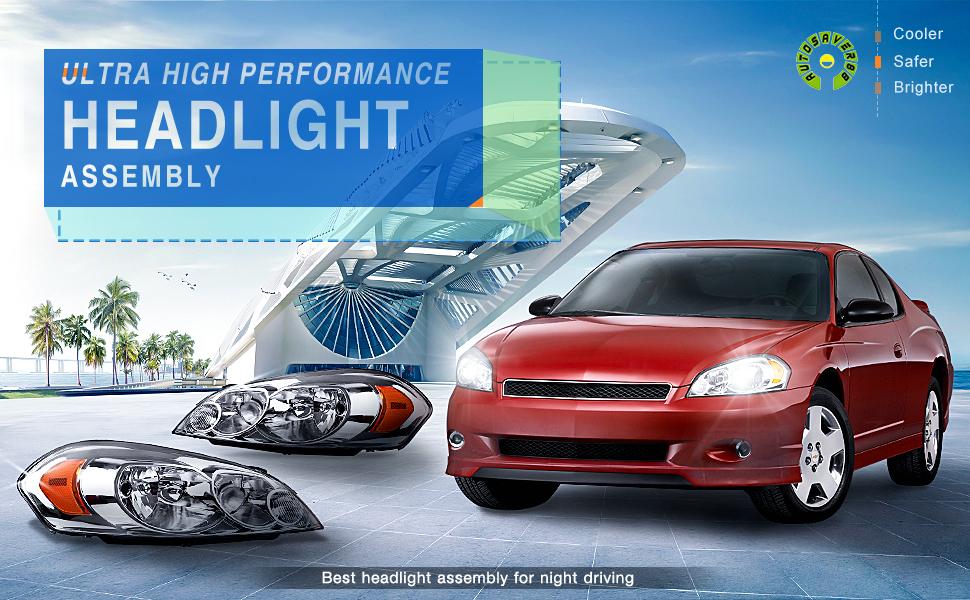 Amazon.com: Headlight Assembly for 2006-2013 Chevy Impala 06 07 ...