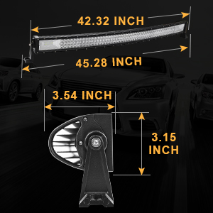 Amazon autosaver88 42 led light bar triple row brighter 7d our led light bars fit most vehiclesoff road vehicle special vehicle engineering vehicles but you need to measure the place where you want to install aloadofball Gallery