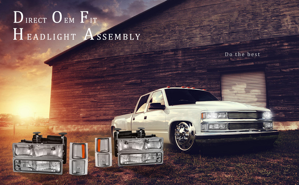 Autosaver88 Headlight Assembly Kit For Chevy Ck Series 1500 2500 3500 Tahoe Suburban Silverado: 1999 Chevy Pick Up Headlight Wiring At Outingpk.com