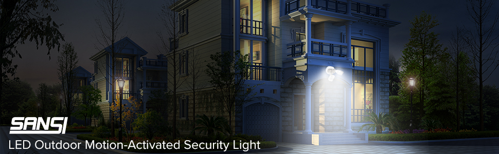 LED OUTDOOR WATERPROOF MOTION SECURITY LIGHT