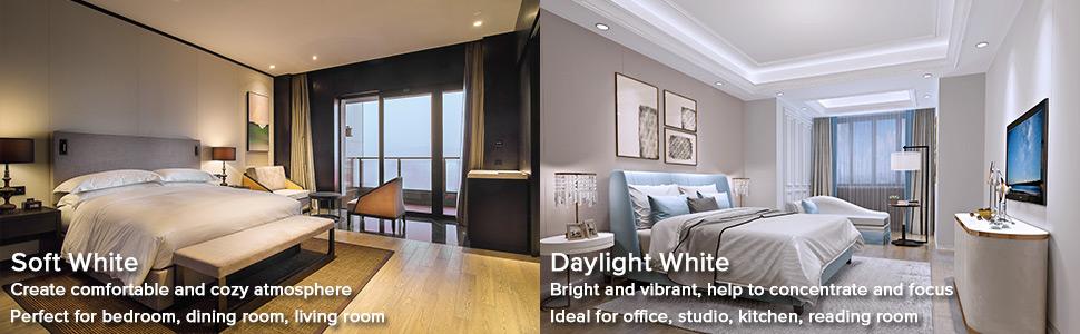 daylight soft warm white bright 3000 3500lm led lights bulb