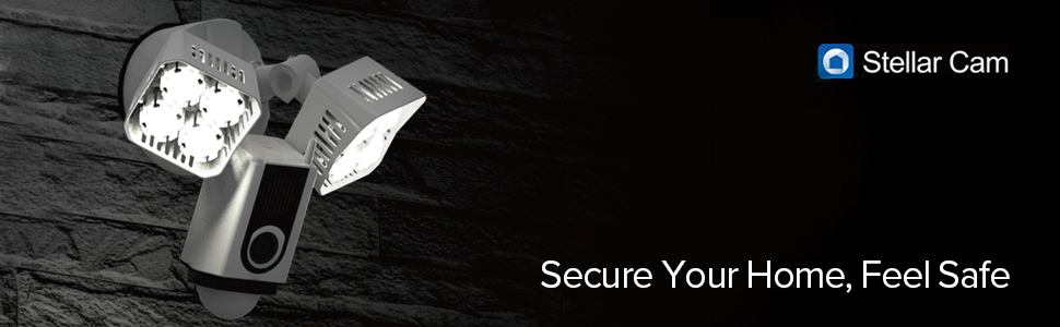 Stellar Floodlight Camera, Motion-Activated Security Cam, Home Security Light, Motion Sensor Light