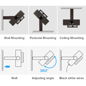 led flood light wall mounting pedestal mounting ceiling mount easy install adjustable bracket