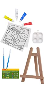 easel kit for girls paint for canvas painting kids paint sets for boys artist kit with easel kids