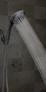 oil rubbed bronze shower head with hose spray wand handheld showerhead with hoses 6 settings massage