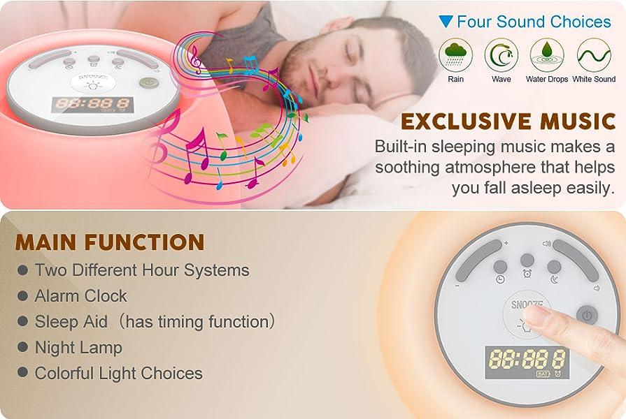 Amazon.com: Wake up Light, Led Sleeping Lamps Sunrise Sunset ...