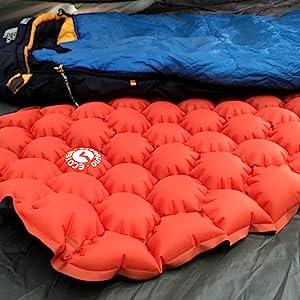 side sleeping pad bag tent ground mattress comfort