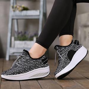 055069b45e95f JARLIF Women's Platform Wedges Tennis Walking Sneakers Comfortable ...