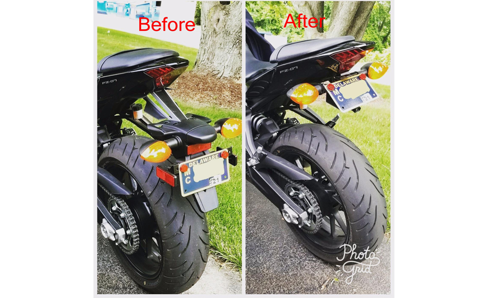 Amazon Com 2014 2018 Fz07 Fender Eliminator Tail Tidy Kit