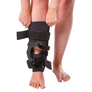 pull on knee sleeve makes the j brace easy to put on