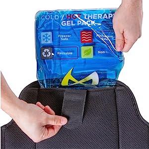 reusable gel pack for back brace