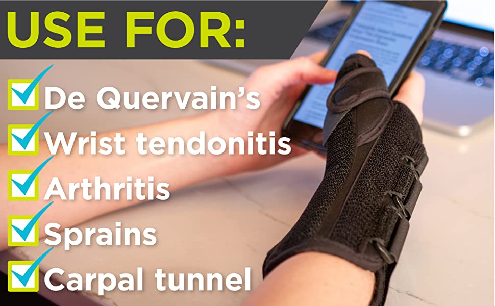 thumb spica splint for de quervains and carpal tunnel