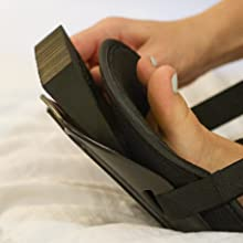 optional foam wedge can be added for extra plantar flexion