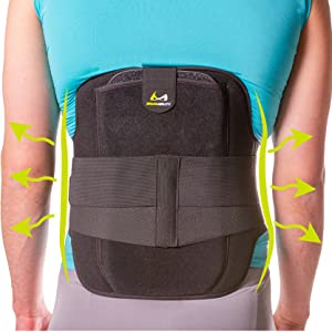 breathable back support for stenosis
