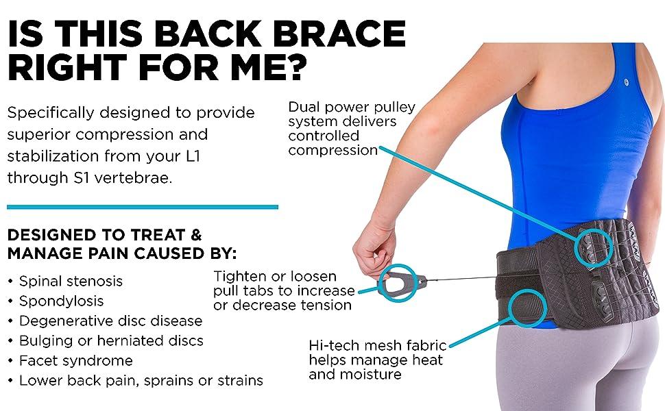 braceability back brace for spinal stenosis