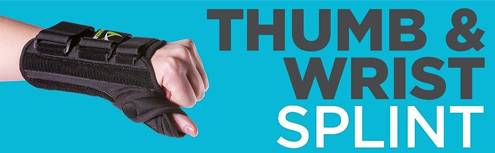 thumb and wrist splint from braceability
