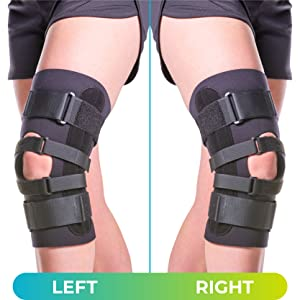 the runners knee brace can be worn on either leg
