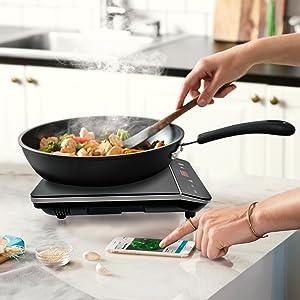 Amazon.com: Cosmo cocina de inducción portátil ...