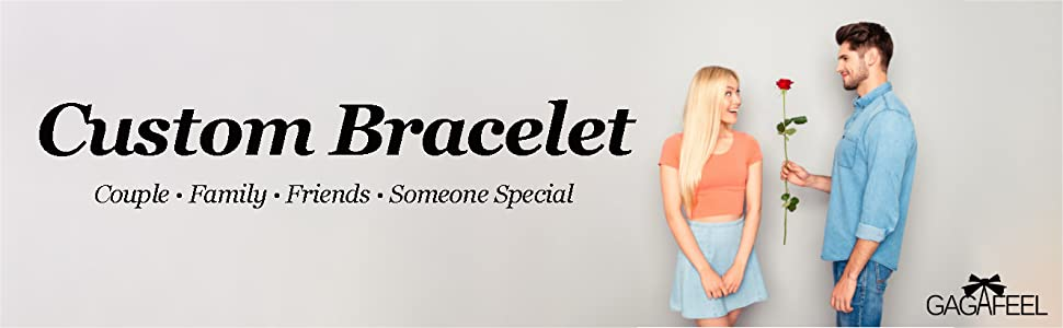 custom bracelet for you couple family friends someone special