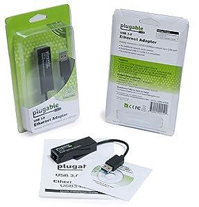 PLUGABLE USB 3.0 10//100//1000 GIGABIT ETHERNET ADAPTER ASIX AX88179 CHIPSE