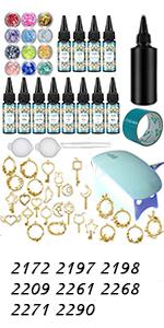 UV resin kit set