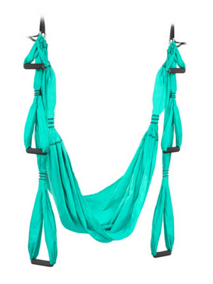 UpCircleSeven Aerial Yoga Swing Set - Yoga Hammock/Sling Kit + Extension Straps & eBook - Antigravity Ceiling Hanging Yoga Sling - Inversion Swing for ...