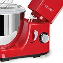 CHEFTRONIC 4.2QT kitchen stand mixer SM985 120V/350W regular beater, wire whisk, dough hook and pla