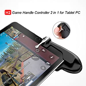 WENDOM Game Controller for PAD Tablet PC Metal Game Trigger 180/° Touchable Shoot/&Aim Button Gift for Gamers