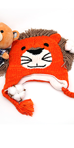 9211e2a2cca IMLECK Magnificent Baby Unisex-Warm Puppy Cloak Scarf Shawl Infant Smart Hat  · IMLECK Cute Lion Head Shape Toddler Warm Winter Knit Hat with Chin Strap  ...