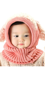 c0e1b833669 IMLECK Magnificent Baby Unisex-Warm Puppy Cloak Scarf Shawl Infant Smart Hat  · IMLECK Cute Baby Kids Girls Boys Warm Winter Stretchy Cat Hat Beanie ...