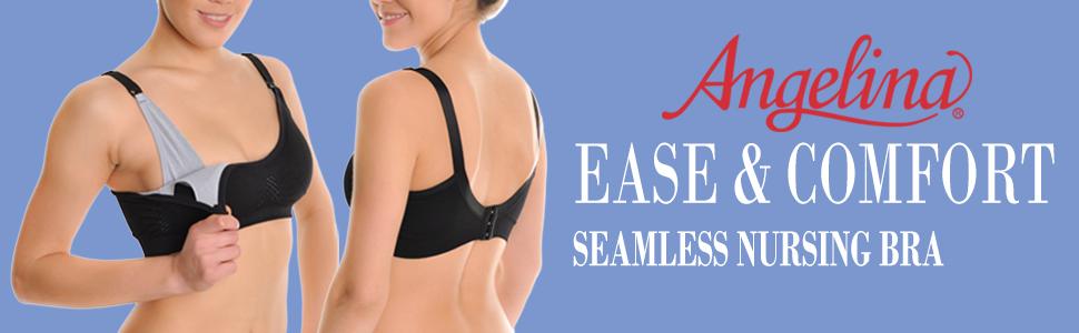 bd7eb98f92c77 Angelina Women s Seamless Nursing Bras with Mesh Detail (3-Pack ...