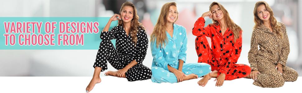 1bb30aebeb89 Angelina Womens Cozy Pajama Set gift tags soft comfy fleece polyester