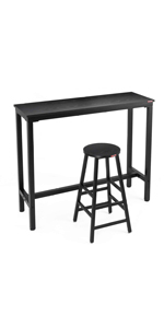 "Amazon com: Mr IRONSTONE 2-Piece Bar Table Set, 47 ""Pub Dining"