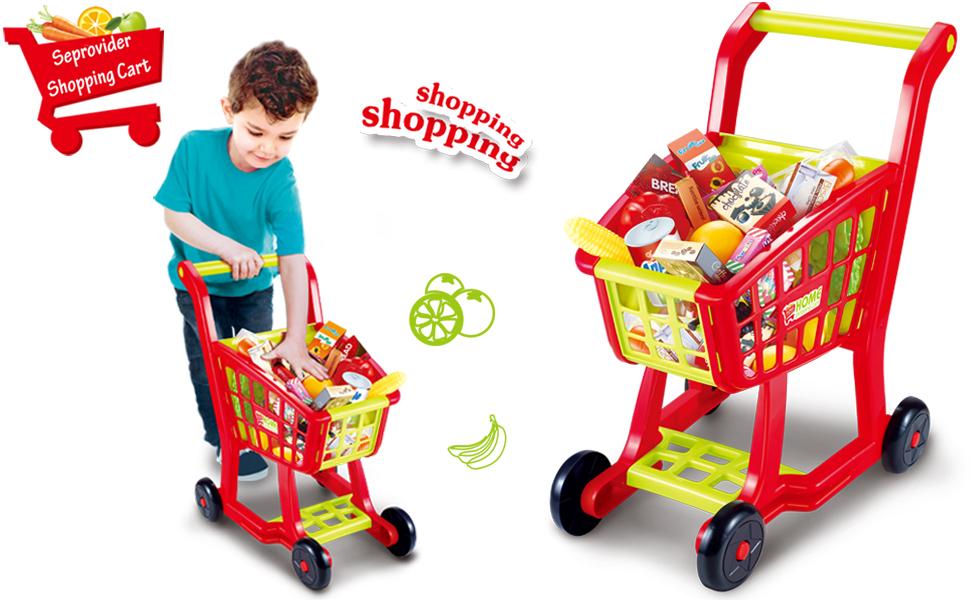 shopping cart toy seprovider kids supermarket cart simulation shopping trolley toy. Black Bedroom Furniture Sets. Home Design Ideas