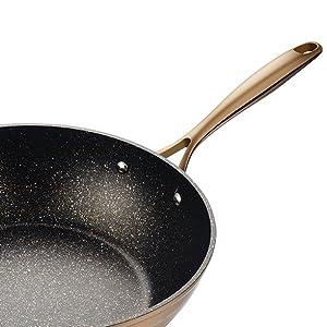 Amazon Com 12 Inches Aluminum Nonstick Wok Stir Fry Pan
