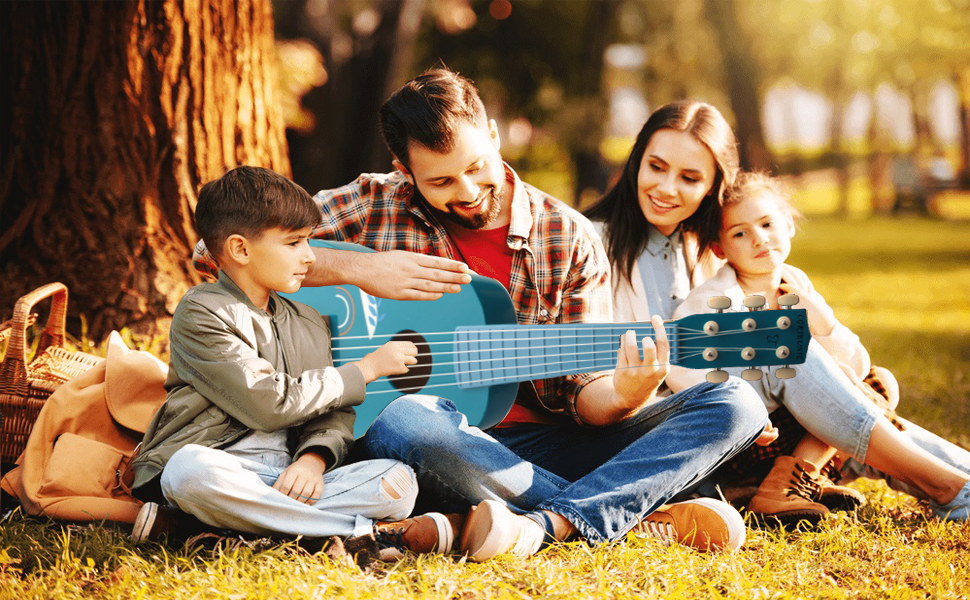 Enjoy the family's music leisure time