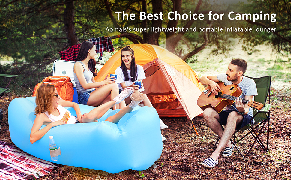 Amazon.com: Tumbona hinchable para sofá, hamaca portátil ...