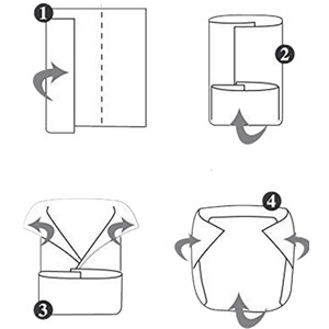 Basic diaper fold for every baby size and age: