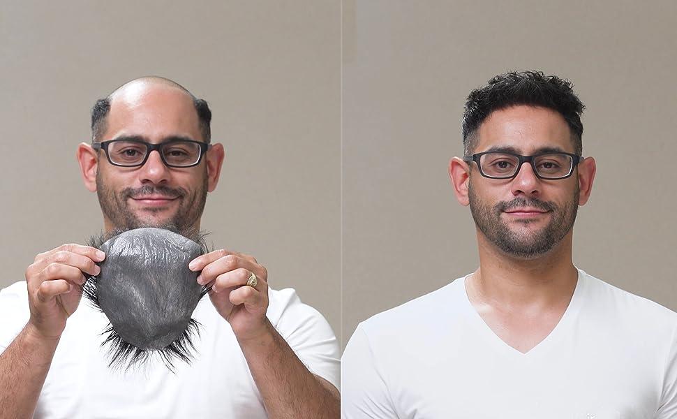 Amazon.com: Tupé para hombres con cabello humano ...