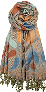 Multi Color Paisley Pashmina