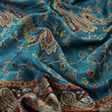 flow silk ethnic paisley shawl