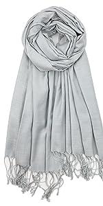 silver gray bamboo pashmina