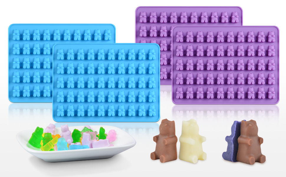 Amazon.com: Gummy Bear Candy Molds Silicone - Chocolate ...
