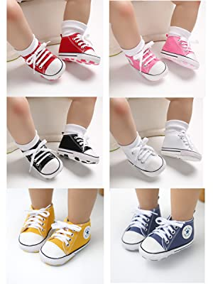 colorful baby sneakers