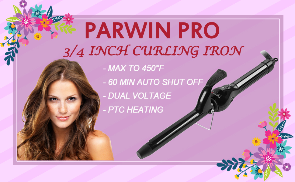 curling iron 3/4 inch