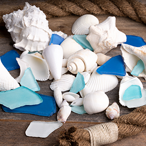 Sea Glass, ocean, beach glass for craft, tumbled glass, beach wedding, party, event