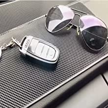 Handy non-slip mat for holding items in cars, office, bathroom, etc