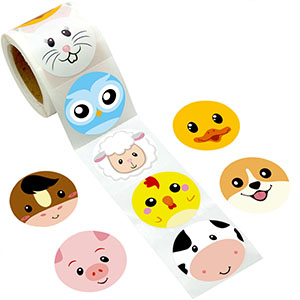 FARM ANIMAL STICKERS Kids Party Bag Filler Childrens Girls Boys Birthday Toy 787