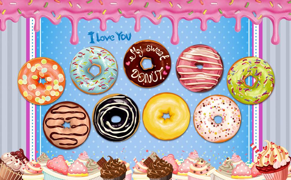 Paint by sticker Donut DIY kit 1200 stickers