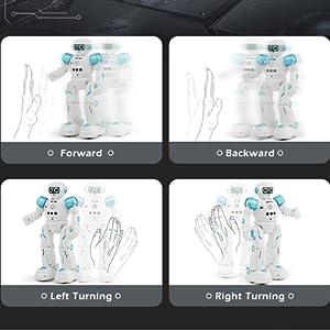 Gesture control smart robot toys